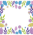 flowers and leafs pattern vector image vector image