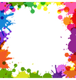 Frame With Color Blobs vector image vector image
