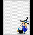 halloween spiderweb border of cute baby witch vector image vector image
