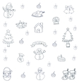Hand draw christmas set backgrounds of doodle vector image