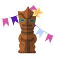 hawaiian wooden idol insulated elements image vector image