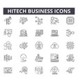 hitech business line icons for web and mobile vector image vector image