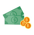 investment bitcoin dollar currency graphic vector image