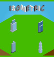 isometric skyscraper set of residential business vector image vector image