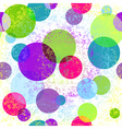Light grungy seamless rainbow pattern vector image