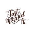 logo wedding lettering vector image vector image