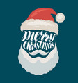 merry christmas banner or greeting card santa vector image vector image