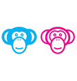 monkey couple vector image vector image