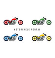 motorcycle rental service banner flat template vector image vector image