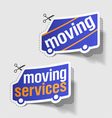 moving services labels vector image