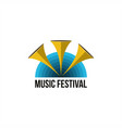 music festival logo vector image vector image