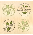 Natural olive oil labels vector image