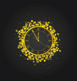 new year clock in gold vector image