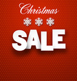 Paper christmas sale sign vector image