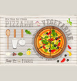 pizza vegetarian vector image