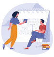 planning schedule and calendar timeline vector image