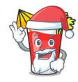 santa bloody mary mascot cartoon vector image