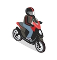 Scooter Rider in Isometric Projection vector image vector image