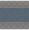 seamless baroque damask luxury background vector image