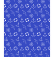 Seamless sea pattern isolated on blue vector image vector image