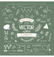 set hand drawn elements vector image