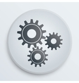 simple icon with technology gears symbol vector image vector image