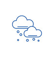 snow clouds line icon concept snow clouds flat vector image vector image