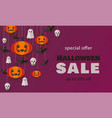 special offer autumn halloween sale vector image