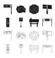 stands and signs and other web icon in black vector image