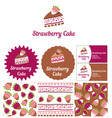 style for a candy store ready desserts and cakes vector image vector image