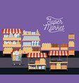 supermarket colorful poster of shelves with foods vector image