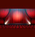 theater show stage interior with red curtain vector image vector image