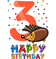 third birthday cartoon design vector image vector image