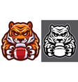 tiger american football mascot vector image