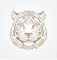 tiger head front view face vector image vector image