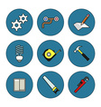 Tools thin line icons set vector image vector image