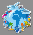 travel and journey sticker vector image vector image