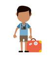 traveler or tourist avatar icon image vector image