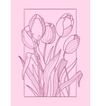 Tulip flowers color hand drawn vector image vector image