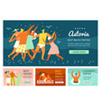 vacation banners set vector image vector image