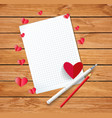 valentine card or love letter composition with vector image vector image