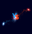versus background blue and red forces lights vector image vector image