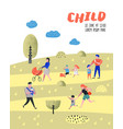 walking family outdoor activity poster banner vector image vector image