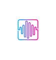wave music logo icon design vector image vector image