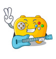 with guitar video game controller shaped on vector image vector image