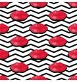 Womens Lips Seamless Pattern vector image