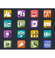 flat communication long shadow icons vector image