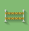 Icon of police barrier line danger tape Flat style vector image