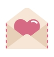 Love letter with heart vector image