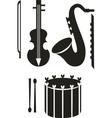 Music tool black 01 vector image